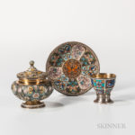 Selection of Russian Silver and Enamel Lots on offer