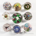 Over 100 lots of Paperweights on offer
