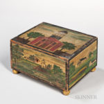 Paint-decorated Pine Box, Charlestown, Massachusetts, 1833 (Lot 679, Estimate: $3,000-$5,000)