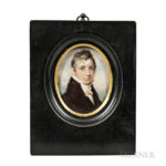 Edward Greene Malbone (Rhode Island, 1777-1807) Miniature Portrait of John Waters (Lot 767, Estimate: $10,000-$15,000)