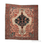 Serapi Carpet, northwestern Iran, c. 1890, 11 ft. 4 in. x 10 ft. 7 in. (Lot 99, Estimate: $8,000-10,000)
