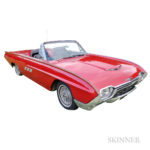 1963 Ford Thunderbird Convertible, VIN #3Y85Z103443, odometer reads approx. 120,507 miles (Estimate: $18,000-22,000)