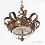 Danish Tell-tale Crown Compass, c. 1810, dia. 10 in. (Estimate: $2,000-2,500)