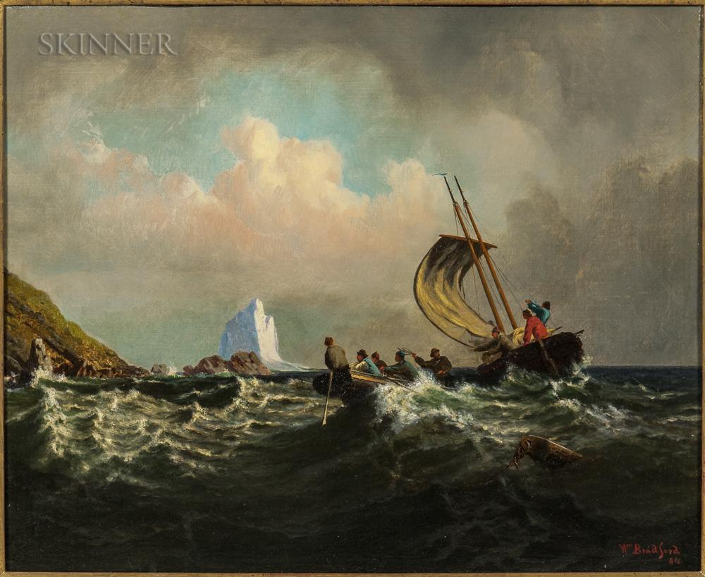 William Bradford (American, 1823-1892), Rescue from the Rocks (Lot 231, Estimate: $25,000-30,000)