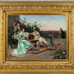 Julius LeBlanc Stewart (American, 1855-1919), Twilight on the Terrace, Paris (Lot 219, Estimate: $150,000-250,000)