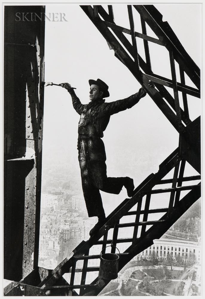Marc Riboud (French, 1923-2016) Le Peintre de la Tour Eiffel (Painter of the Eiffel Tower), Paris, 1953, printed later (Lot 134, Estimate: $2,000-3,000)