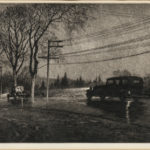 Martin Lewis (American, 1881-1962) Wet Night, Route 6, 1933 (Lot 33, Estimate: $6,000-8,000)