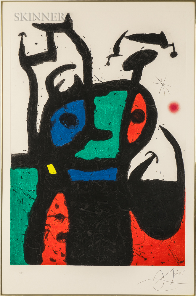 Joan Miró (Spanish, 1893-1983) Le matador, 1969 (Lot 77, Estimate: $25,000-35,000)