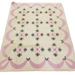 Appliqued Cotton 'Ohio Rose' Quilt (Lot 315, Estimate: $300-500)
