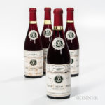 Louis Latour Aloxe Corton Latour Les Chaillots Rouge 1976, 4 bottles (Estimate: $125-175)