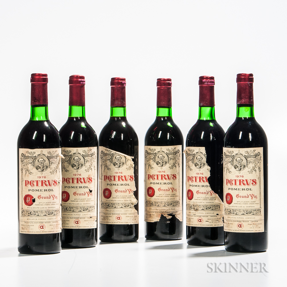 Chateau Petrus 1976, 6 bottles (Estimate: $6,000-7,800)