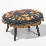 Applique Upholstered Footstool, America, 19th century (Lot 1396, Estimate: $300-500)