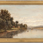 Charles B. Russ (Massachusetts/New Hampshire, 1825-1920) River Landscape (Lot 1150, Estimate: $400-600)