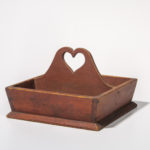 Red-stained Cutlery Box, America, 19th century (Lot 1203, Estimate: $300-500)