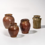 Four Glazed Vermont Redware Jars, 19th century (Lot 1174, Estimate: $400-600)