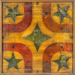 Star-decorated Parcheesi Game Board, late 19th century (Lot 1299, Estimate: $800-1,200)