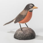 Jess Blackstone Carved and Painted Miniature Robin, Peterborough, New Hampshire, c. 1968-69 (Lot 1576, Estimate: $300-500)