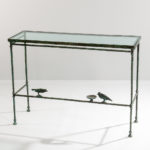 Attributed to Diego Giacometti (Swiss, 1902-1985) Patinated Bronze Console aux Deux Oiseaux (Estimate: $15,000-20,000)