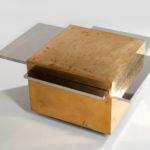 Gabriella Crespi Brass and Chrome Magic Cube Cocktail Table (Estimate: $20,000-25,000)