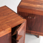 Two George Nakashima (1905-1990) Walnut and Maple Burlwood Kornblut End Tables (Estimate: $8,000-10,000)