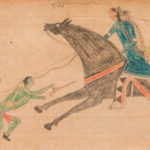 Native American Ledger Drawing Touching Coup, America, c. 1870 (Lot  300, Estimate: $3,000-5,000)