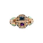 Rare Renaissance Gold, Enamel, and Gem-set Gimmel Ring, Germany (Lot 14, Estimate: $15,000-20,000)