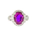 Art Deco Platinum, Ruby, and Diamond Ring (Lot 138, Estimate: $40,000-50,000)