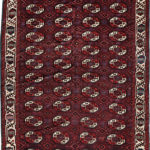 Yomud Tauk Noshka-gul Main Carpet, Central Asia, first half 19th century (Lot 132, Estimate: $3,000-4,000)