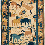 Ningsha Rug, western China, early 19th century (Lot 155, Estimate: $1,500-1,800)