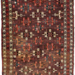 Yomud Kejase-gul Carpet, Central Asia, c. 1800 (Lot 131, Estimate: $2,000-3,000)