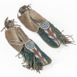 Kiowa Beaded Hide Man