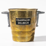 Brass 'Champagne Delbeck' Bucket, c. 1930 (Lot 1021, Estimate: $100-150)
