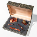 Boxed Agate Desk Set, 20th century (Lot 1086, Estimate: $200-400)