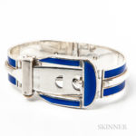 Gucci Sterling Silver and Enamel Buckle Bracelet (Lot 2005, Estimate: $600-800)