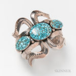 Silver and Turquoise Cuff (Lot 2202, Estimate: $100-200)