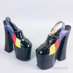 Vintage Patent Leather Platform Shoes (Lot 2484, Estimate: $50-100)
