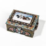Russian Cloisonné and En Plein Enamel Box by Feodor Ruckert (Lot 82, Estimate: $10,000-20,000)