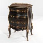 Alphonse Giroux et Cie Ebony-parquetry Ormolu-mounted and Brass-inlaid Petit Commode (Lot 382, Estimate: $3,000-5,000)