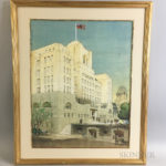 Cyril A. Farey (British, 1888-1954) Architectural Rendering (Lot 1076, Estimate: $400-600)