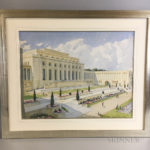 Frederick Samuel Beaumont (British, 1861-1954) Watercolor of Palais des Nations, Genève (Lot 1274, Estimate: $400-600)