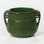 Green Handled Art Pottery Jardiniere (Lot 1276, Estimate: $300-500)