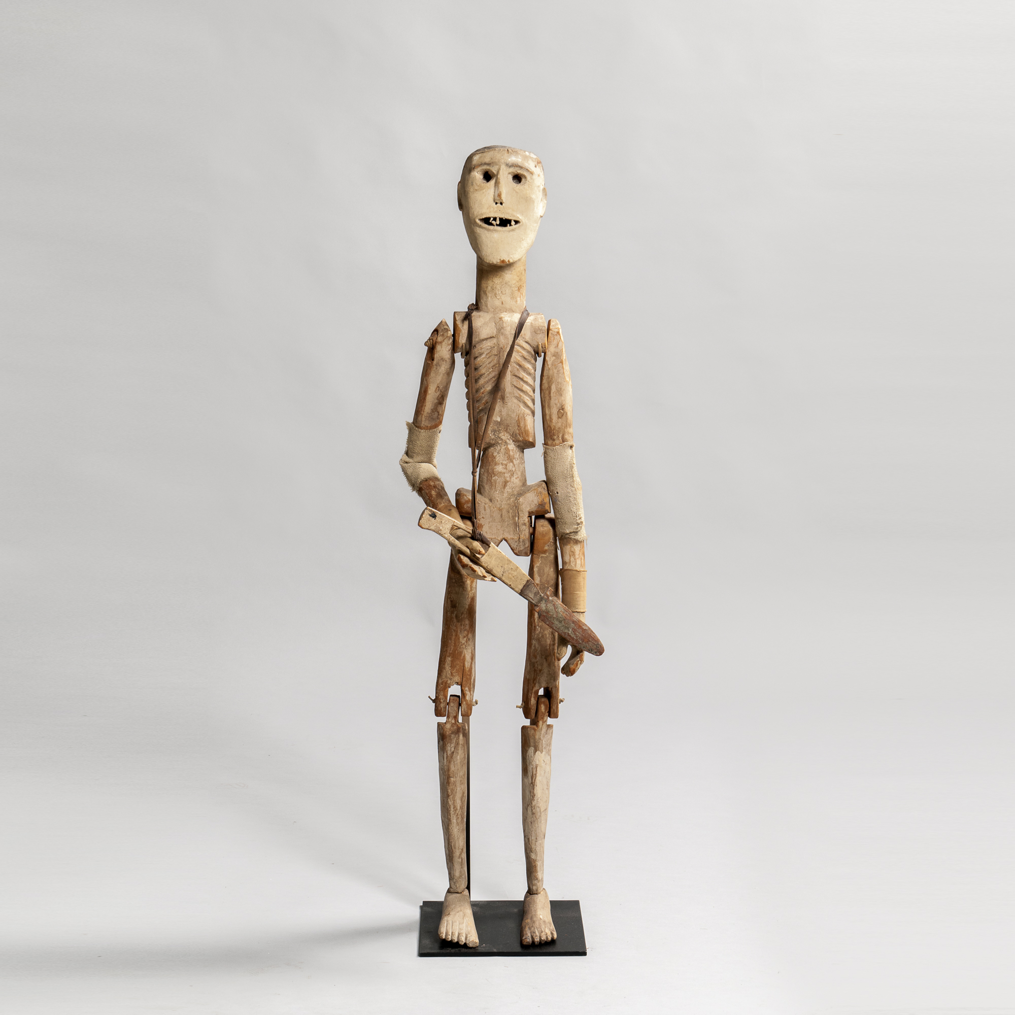 Carved and Painted Penitente Figure, New Mexico, Los Hermanos Penitentes Society, late 19th century (Lot 65, Estimate: $2,000-4,000)