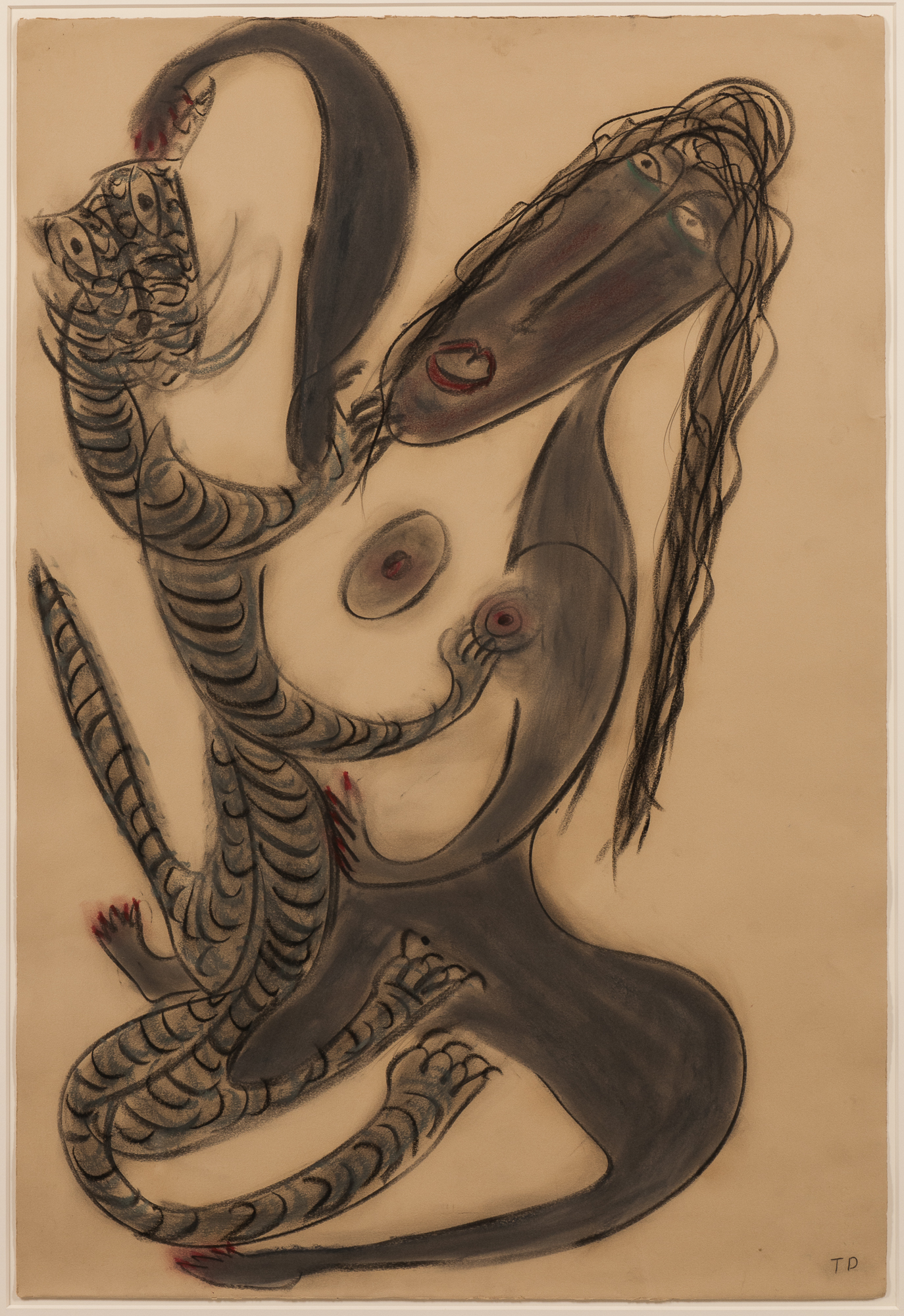 "Thornton (Buck) Dial, Sr. (Alabama, 1928-2016), ""A Sexual Lady and a Sexual Cat"" (Lot 99, Estimate: $2,000-3,000)"