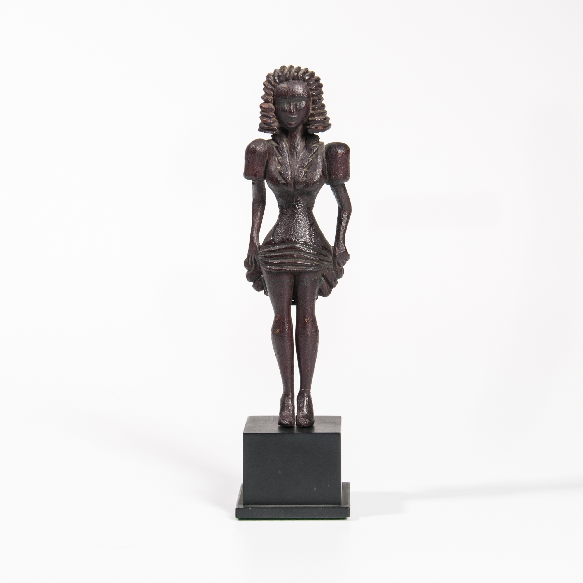 Carved Wood Figure of a Woman Lifting Her Skirt, America, c. 1925-35 (Lot 8, Estimate: $3,000-5,000)