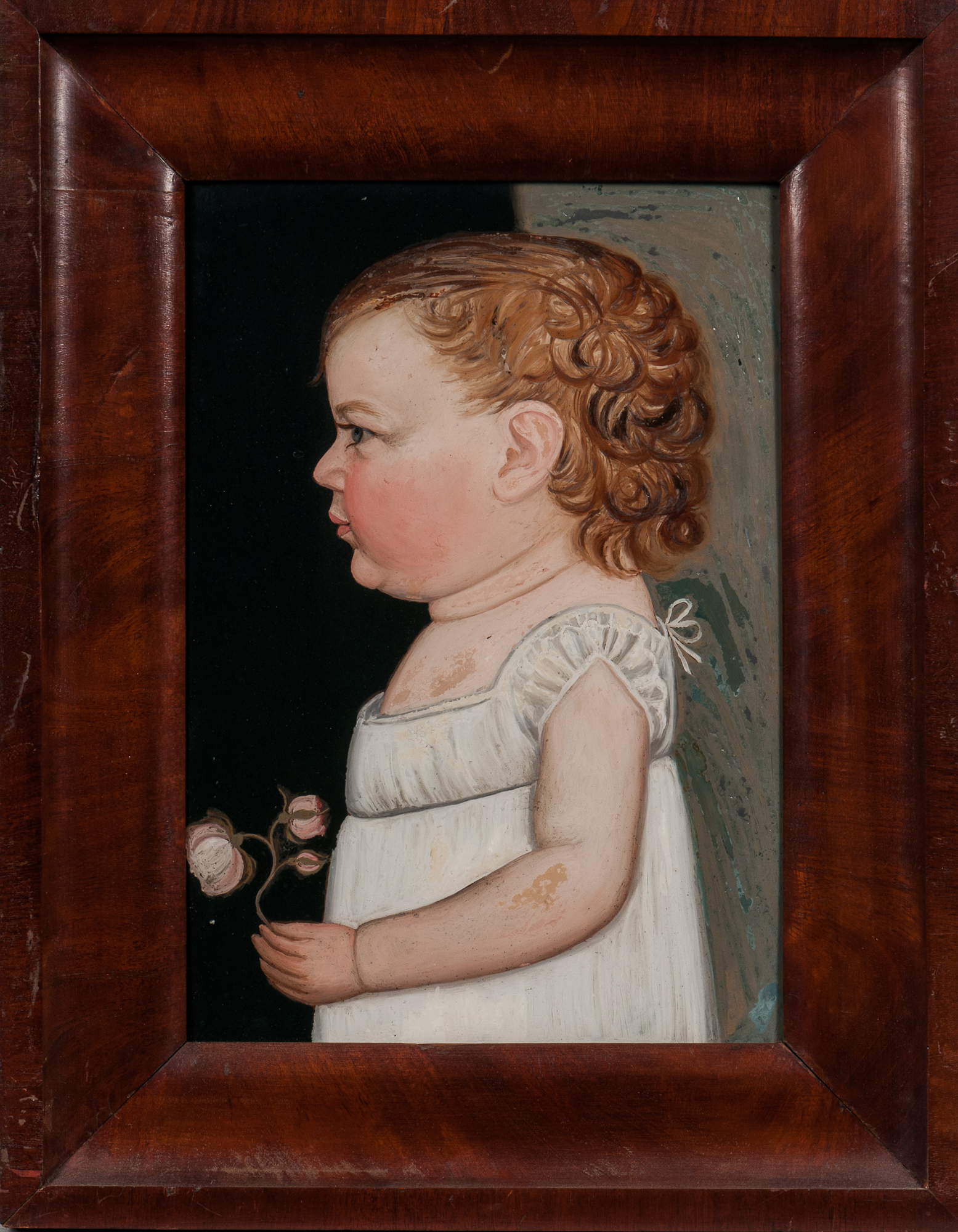Benjamin Greenleaf (Massachusetts/New Hampshire, 1769-1821) Portrait of a Baby Girl (Lot 124, Estimate: $6,000-8,000)