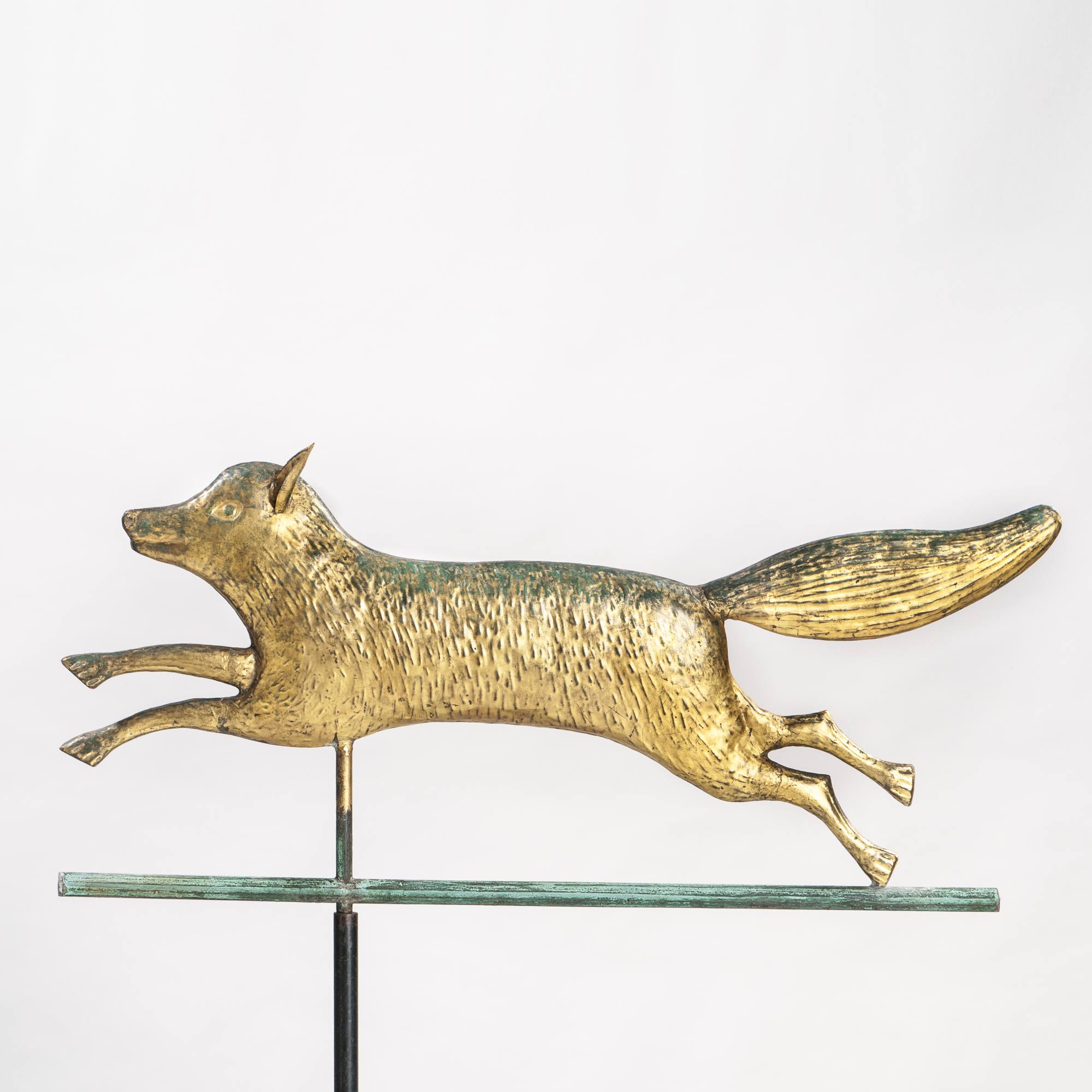 Gilded Molded Sheet Copper Running Fox Weathervane, New England, late 19th century (Lot 391, Estimate: $4,000-6,000)