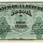 1880s Colombian El Banco De La Republica 10 Peso, Pick S810 (Lot 2179, Estimate: $1,000-2,000)