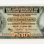 1951 British Honduras $10 Note, Pick 27c (Lot 2175, Estimate: $2,000-3,000)