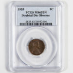 1955 Doubled Die Obverse Lincoln Cent, PCGS MS63BN (Lot 2036, Estimate: $1,500-2,000)