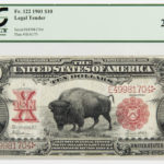 "1901 $10 Legal Tender ""Bison"" Note, Fr. 122, PCGS Currency Very Fine 20PPQ (Lot 2170, Estimate: $500-700)"